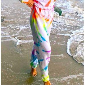 Neon Fluro Tie Dye Sweatpants Joggers